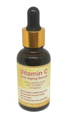 Serum do twarzy witamina C 20% kwas hialuronowy