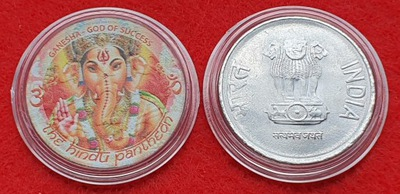 Индия 2Rs Цвет ГАНЕША-БОГ УСПЕХА /1 -0163