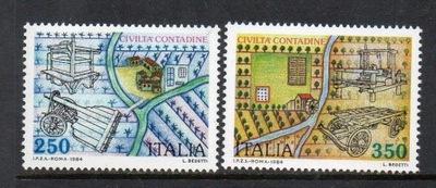 Włochy 1984 Znaczki Mi 1896-7 ** rolnictwo