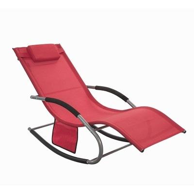 SoBuy OGS28 - R záhradné Lehátko-hojdacia stoličky s vankúš