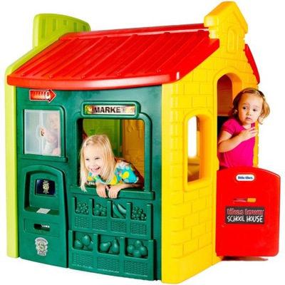 Domček pre-deti LITTLE TIKES chata Mesta CIEĽ BASKETBAL 444C
