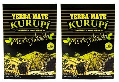 Yerba Mate Kurupi Мента Boldo 2x500g