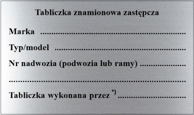 ПАНЕЛЬ МАРКИРОВОЧНАЯ ZASTĘPCZA, КОМПЛЕКТ 10 ШТ.