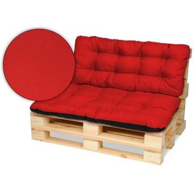 Подушки на мебель из поддонов скамейка 120х80+120x50 красные