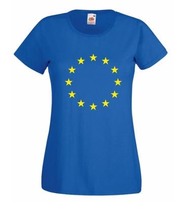 KOSZULKA DAMSKA UNIA EUROPEJSKA FLAGA S