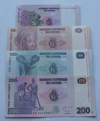 ZESTAW BANKNOTÓW KONGO - Z PACZKI BANKOWEJ