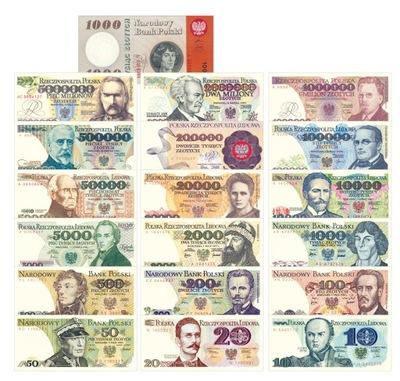 Zestaw banknotów PRL UNC komplet + kopiegratis
