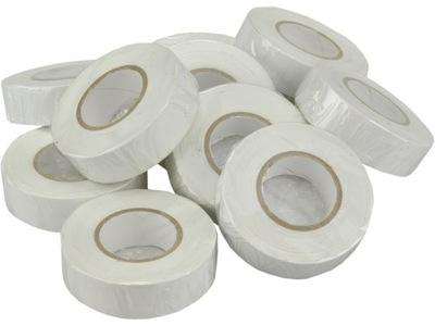 Páska elektrické izolácie 19 mm/20m 10pcs biela