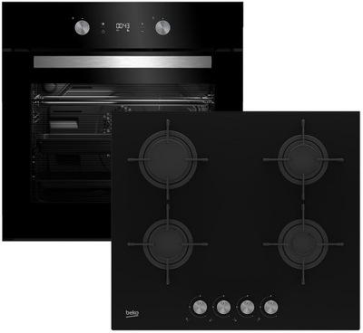 Черный комплект Beko BIE24301 плита газовая HILG64220