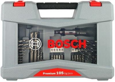 комплект V-LINE 105szt. СВЕРЛ и НАКОНЕЧНИКОВ Bosch PRO
