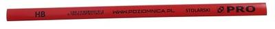 карандаш PRO, столярная 240мм красный