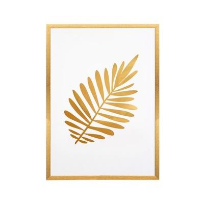 Pozlátené zlato plagát A4 21x29,7 v rámci List