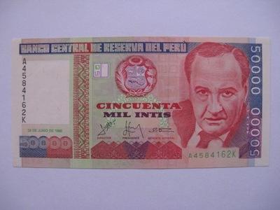 Перу - 50000 Intis - 1988 - P142 -  .1