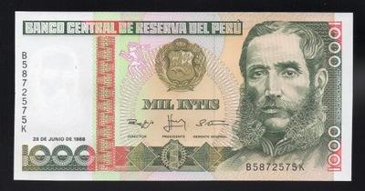 Перу 1000 INTIS P-136b 1988 UNC