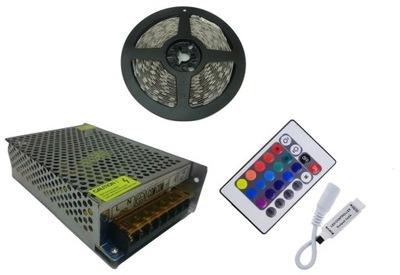 SÚPRAVA pásy RGB 5050 300 LED 5m + volant + zdroj napájania