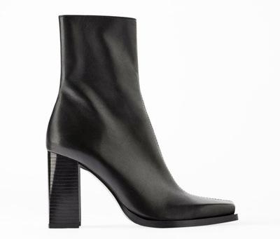 Buty botki Zara 37 skóra naturalna 7966916116 oficjalne