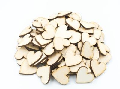 деревянные сердце 3x3 см 50шт декупаж наклейки эко