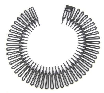 Opaska do włosów GRZEBIEŃ grzebyk CZARNA