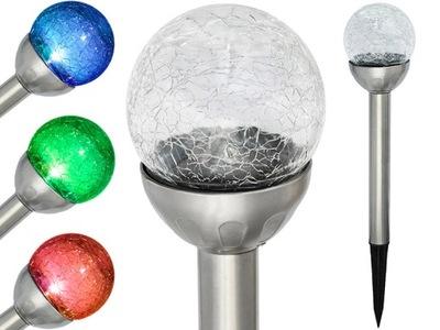 солнечная лампа RGB 1LED лампа стекло шар P-419