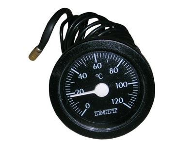 Termometr tarczowy z kapilarą sondą 0+120stC *