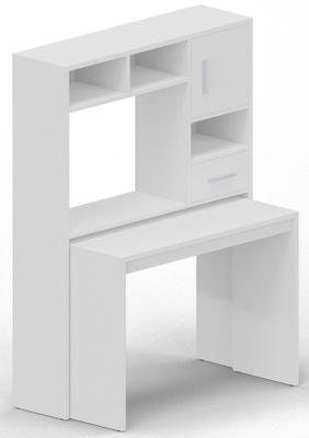 Рабочий стол MODUS белое угловые раскладные стеллаж