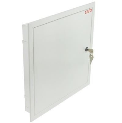 BRACERS prístup Dvere kovové zámok 30x30cm