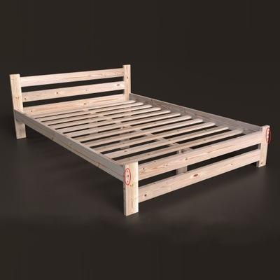 кровать ?????????? 140х200 B сосновые высокий подголовник