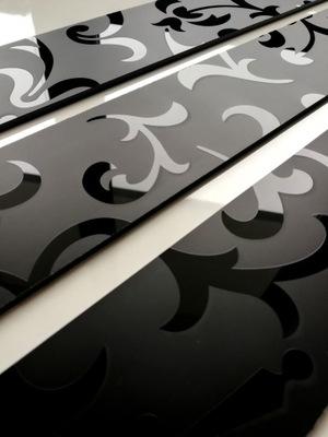 Планка СТЕКЛО Мозаика Декор ?????????? Черный 6cm