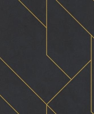 черная - Золота - Геометрия - SoHo -ОБОИ -Rasch