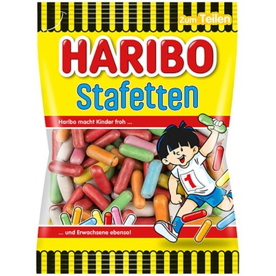 Haribo Мишки гамми Stafetten Лакрица 200? из Германии