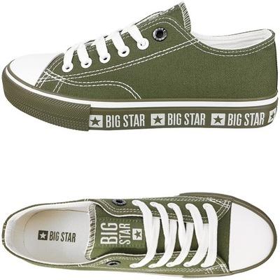 Trampki Big Star damskie zielone buty FF274240 37