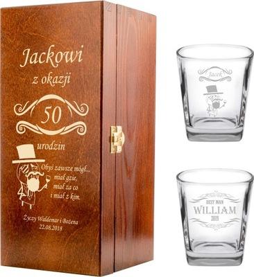 Стакана Виски х 2 коробка алкоголь с гравировкой
