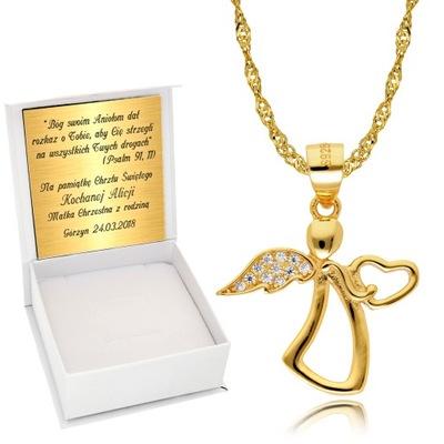 Zlatá reťaz 925 anjel na krst Rytca