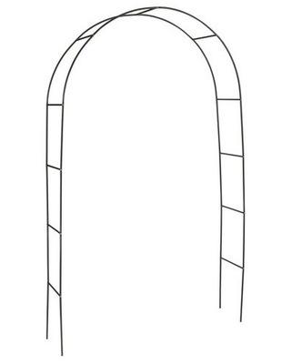 пергола металлический лук цветы лианы 240x140x37