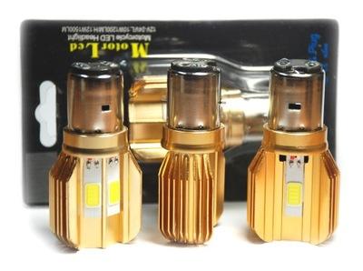 BA20D S2 в 35/35 Вт 3 светодиодный 1500lm белизна премии Золотой радиатор