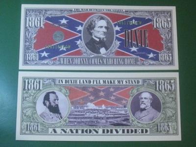 Банкноты ??? Север  . Юг 1861-1865 Флаг