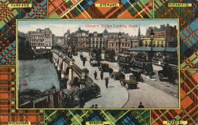 ГЛАЗГО. BRIDGE LOOKING NORTH. 1907