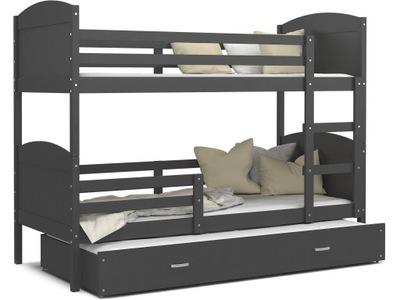 Poschodová posteľ evanjelium podľa MATÚŠA 3 šedá 200x90