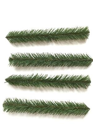 искусственная ВЕТКА простая зеленый декор 10шт x35cm