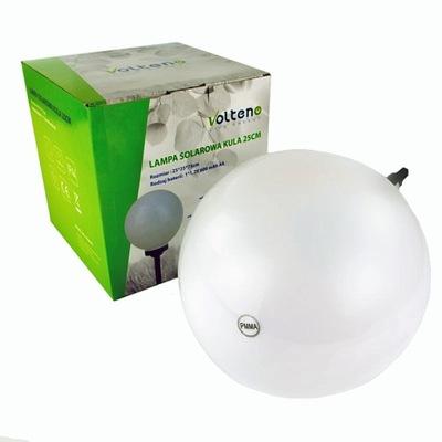 солнечная лампа для сада шар 25СМ VO0655 VOLTENO