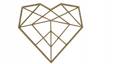 Алмазные сердце  ??????????  , 6 см декупаж S3