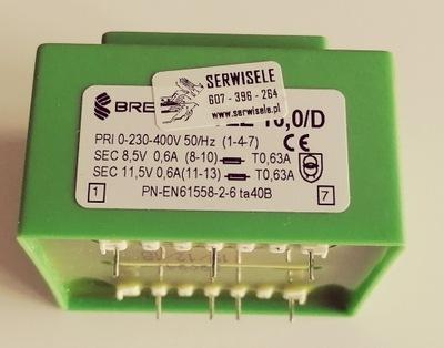 TRANSFORMATOR 11,5V 8,5V 400 230 HAHN B 1406090