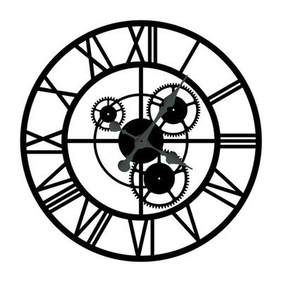 БОЛЬШОЙ часы металлический чердак с режимами 60СМ,