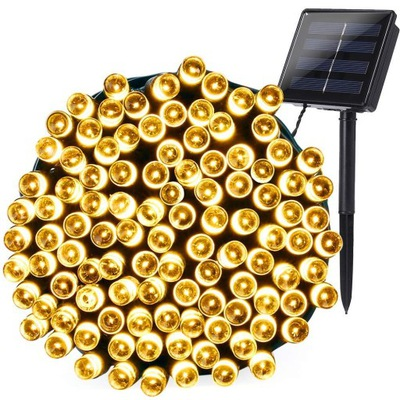200 LED  огни солнечное садовое Внешняя Вспышка