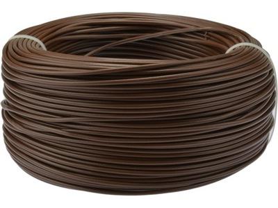 Kábel, drôt, flexibilný kábel LGY 1,5mm2 hnedé 100m