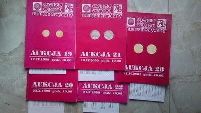 Katalogi Aukcyjne GGN 19,20,21,22,23+Listy wyniko