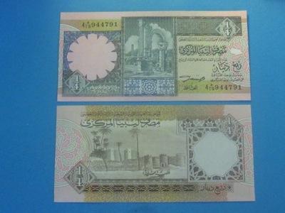 Ливия Банкнота 1 /4 Динара 1991 UNC P-57b