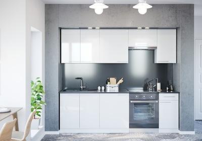 ВОЛЧАНКА LUNA WHITE 01 - комплект кухонной мебели 240