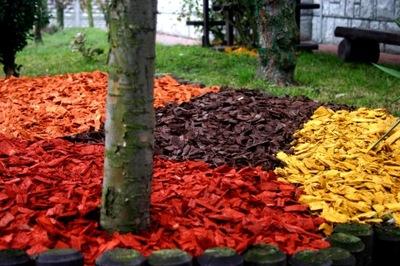 Kora Kolorowa Zrębki Kolorowe 100l Pomrańczowe