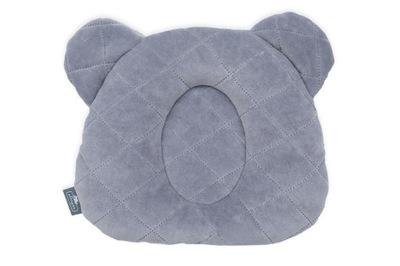 серая подушка с углублением на голову SLEEPEE